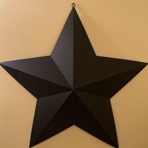Black Matte Metal Star